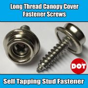 Genuine DOT Boat Canopy Cover Long Thread Screw Stud Snap Fastener Self Tapping